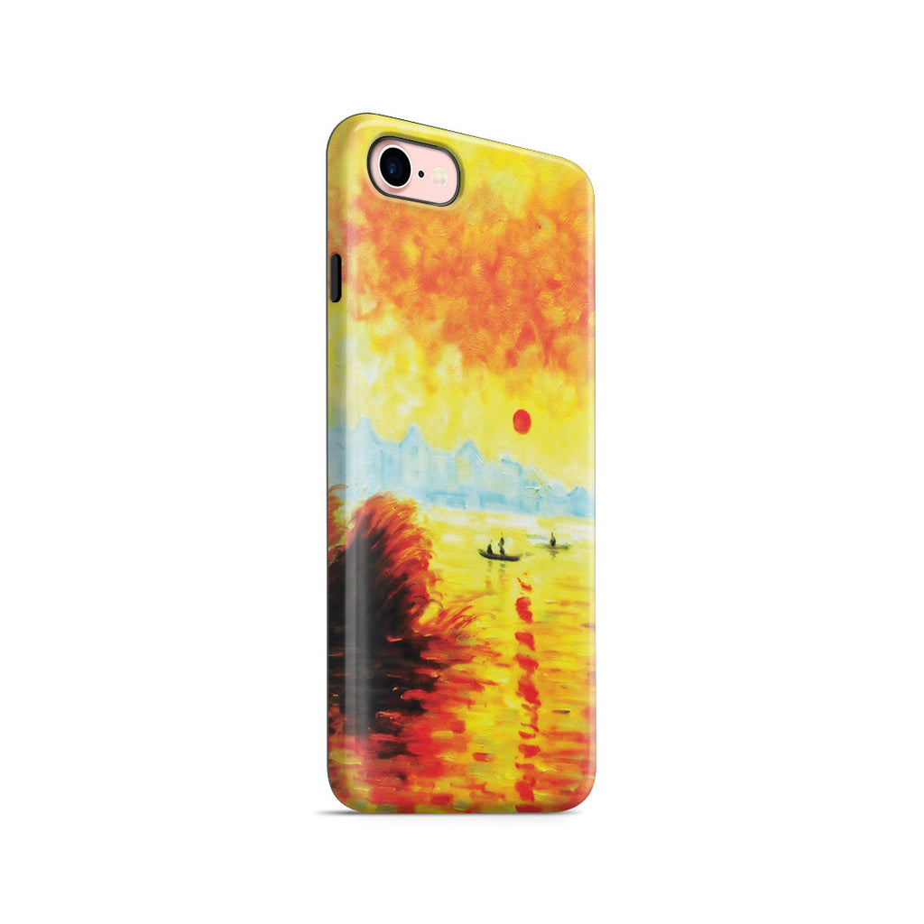 iPhone 7 Adventure Case - Le Coucher Du Soleil La Seine by Claude Monet