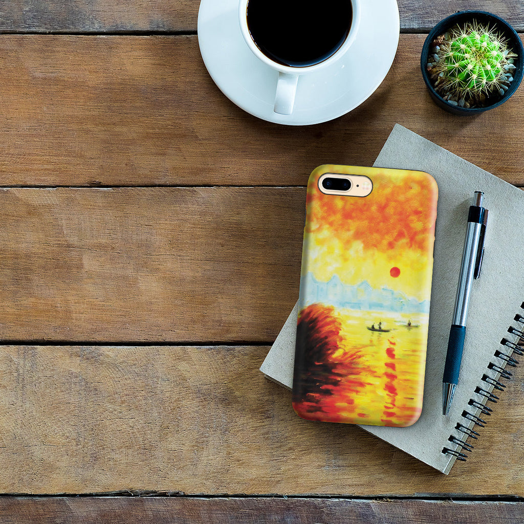 iPhone 7 Plus Adventure Case - Le Coucher Du Soleil La Seine by Claude Monet