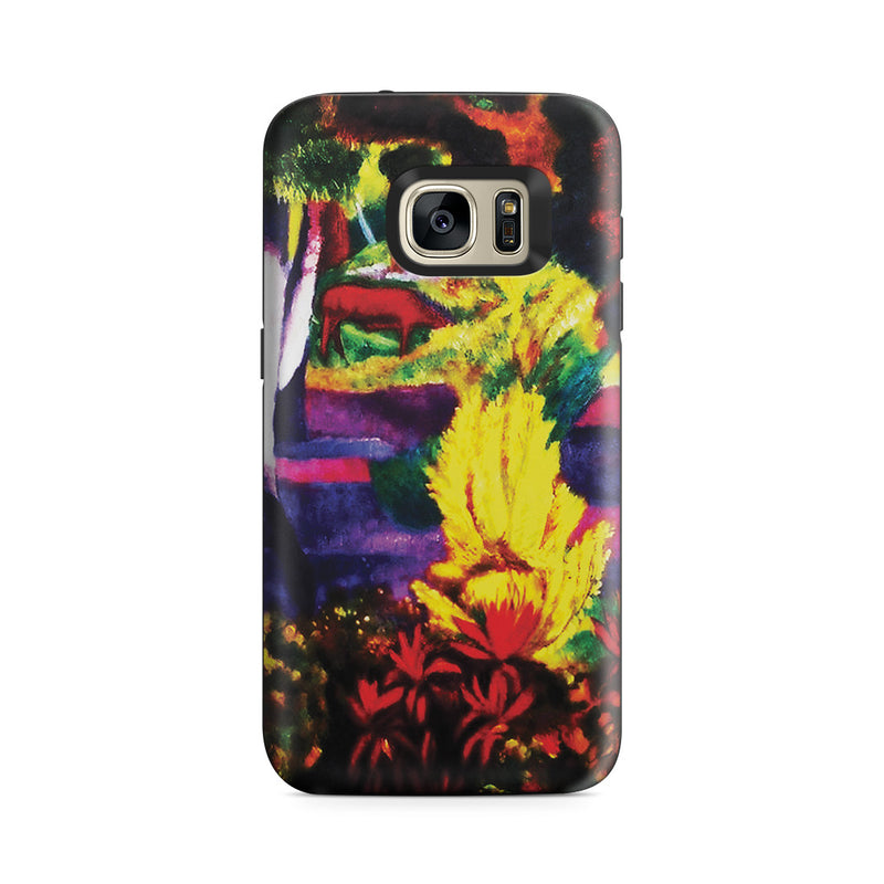 Galaxy S7 Adventure Case - Marquesan Landscape with Horses, 1901 by Paul Gauguin