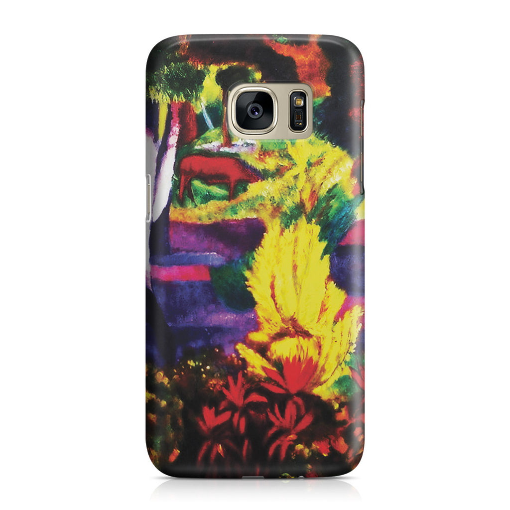 Galaxy S7 Case - Marquesan Landscape with Horses, 1901 by Paul Gauguin