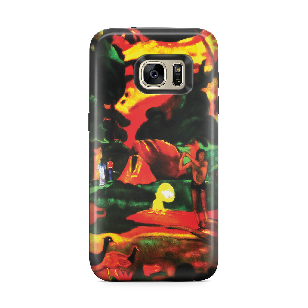 Galaxy S7 Edge Adventure Case - Matamoe (Death), Landscape with Peacokcs, 1892 by Paul Gauguin