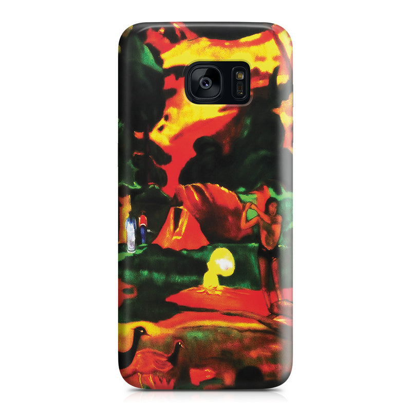 Galaxy S7 Edge Case - Matamoe (Death), Landscape with Peacokcs, 1892 by Paul Gauguin