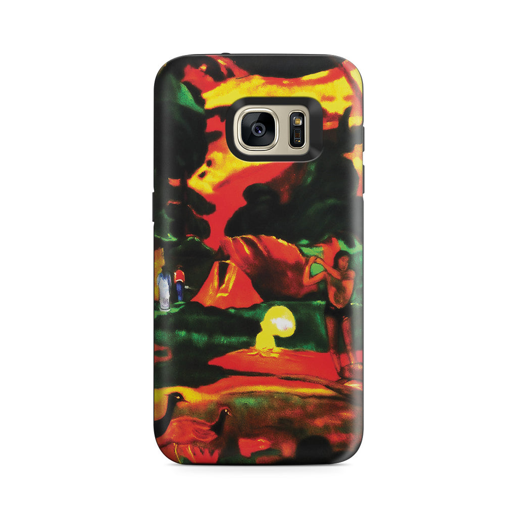 Galaxy S7 Adventure Case - Matamoe (Death), Landscape with Peacokcs, 1892 by Paul Gauguin