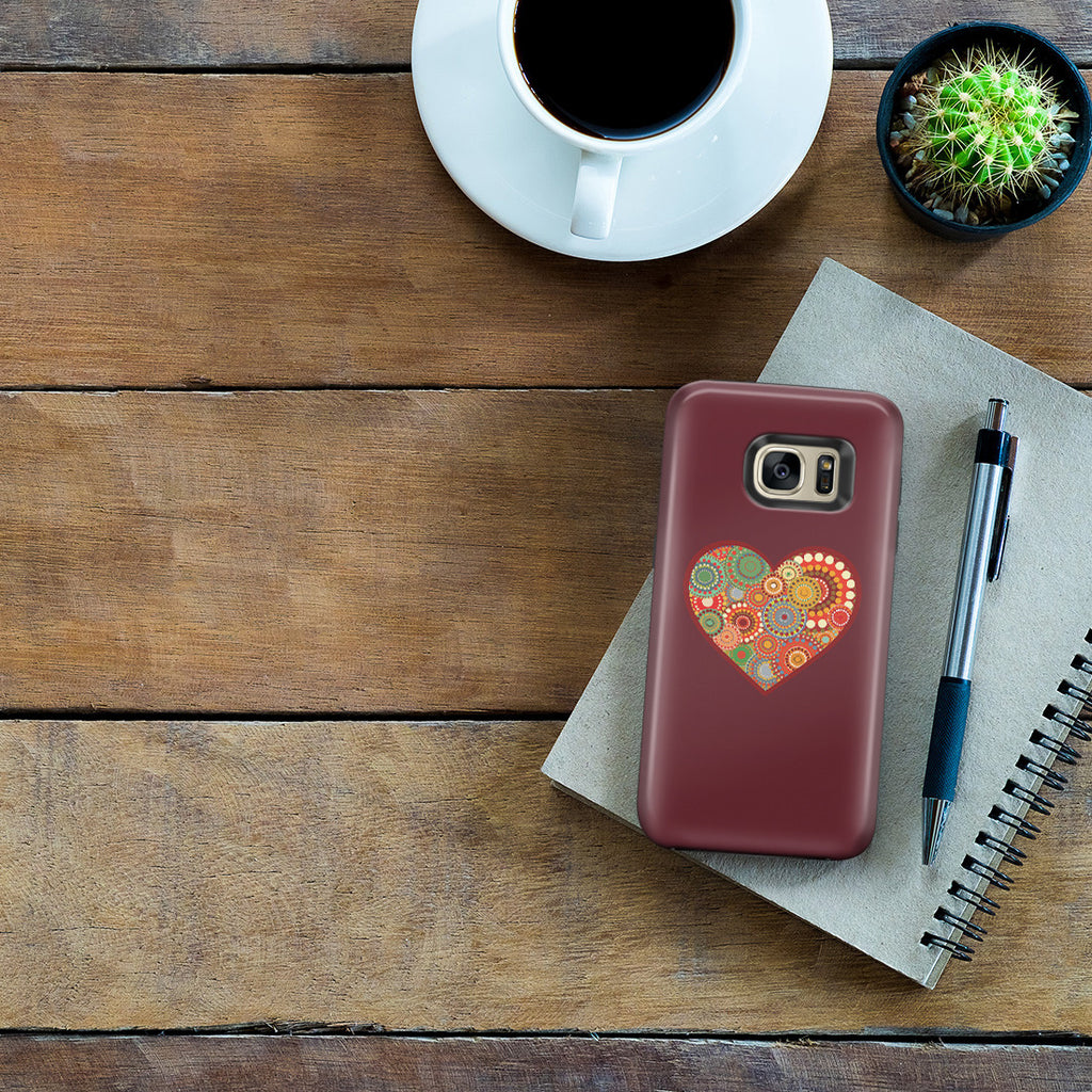 Galaxy S7 Edge Adventure Case - Psychedelic Love