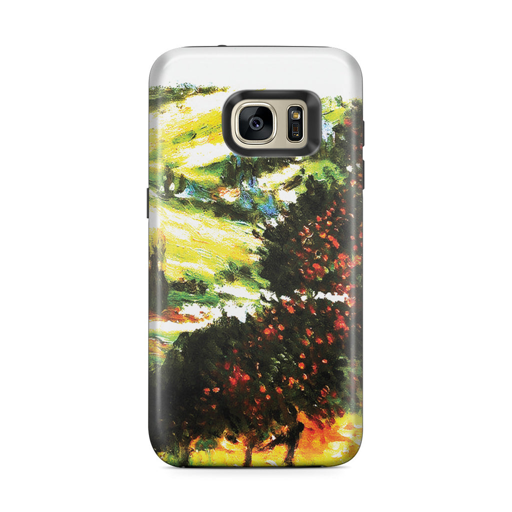 Galaxy S7 Edge Adventure Case - Apple Trees In Bloom at Vetheuil 1887 by Claude Monet