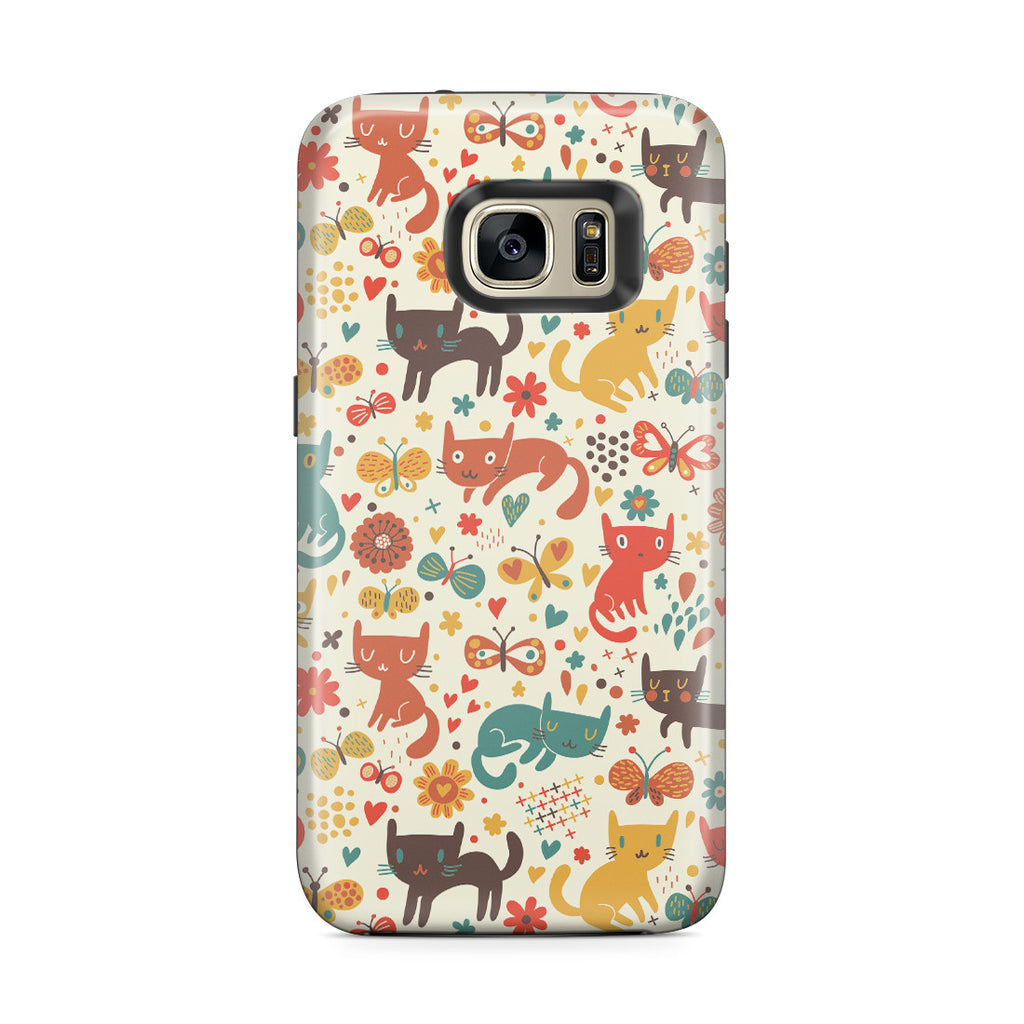 Galaxy S7 Edge Adventure Case - Crayon Cat