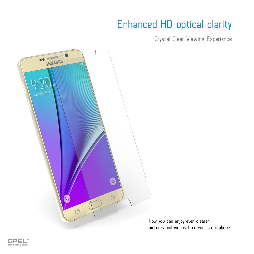 Galaxy Note 5 Screen Protector - Real Tempered Glass - GPEL  - 5