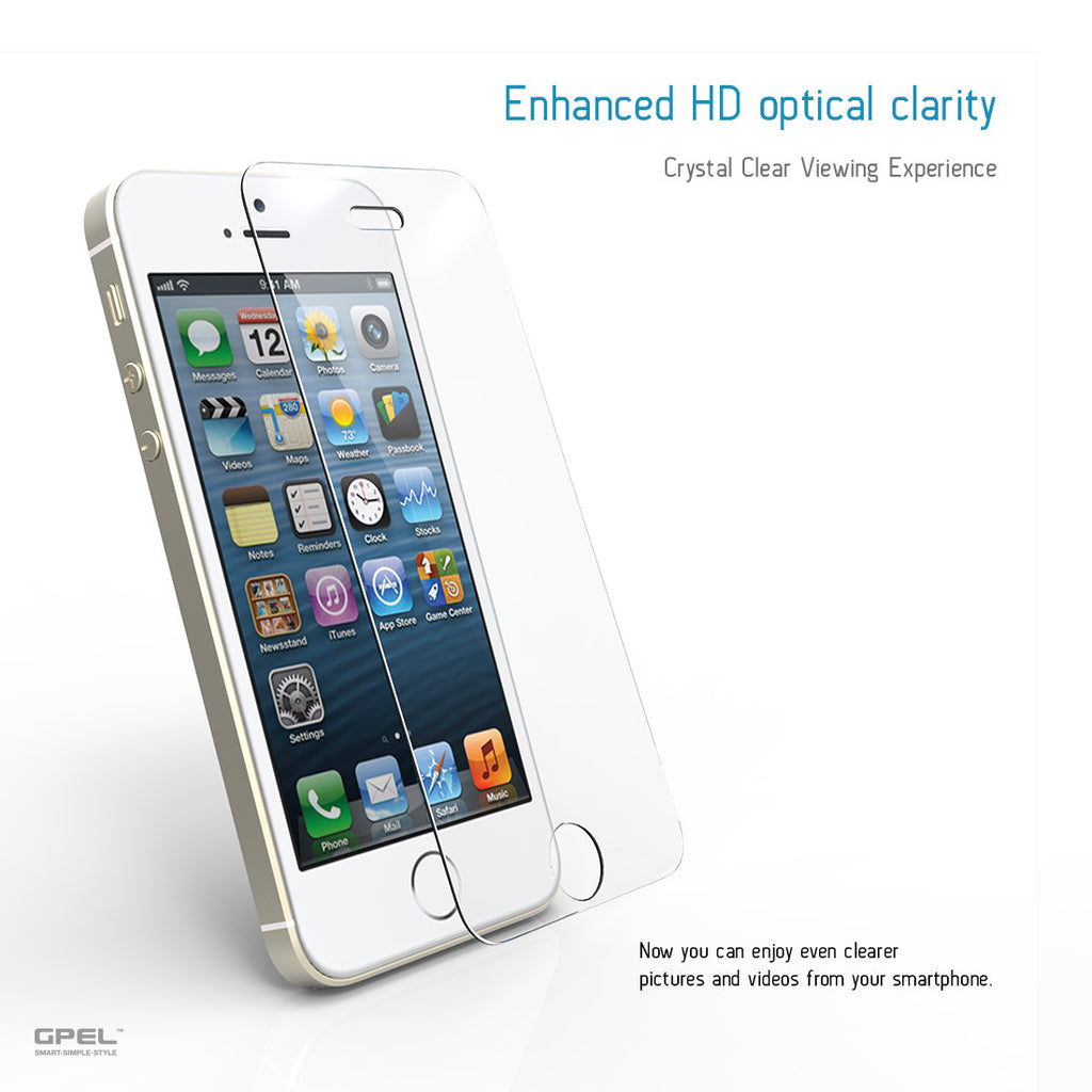 iPhone 5 / 5S / 5C Screen Protector - Real Tempered Glass - GPEL  - 3