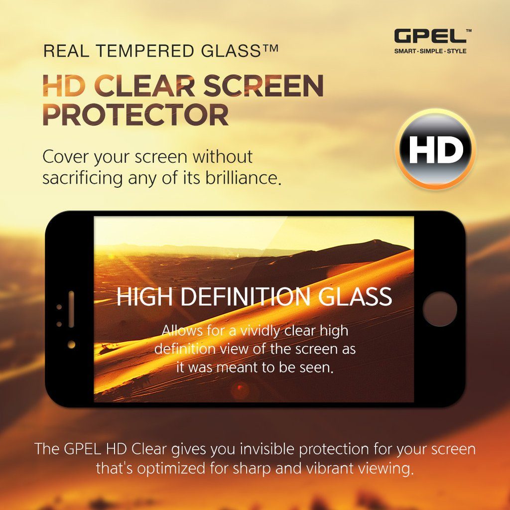 online store e6d3c 9428d iPhone 8 Plus Edge to Edge Screen Protector - Real Tempered Glass