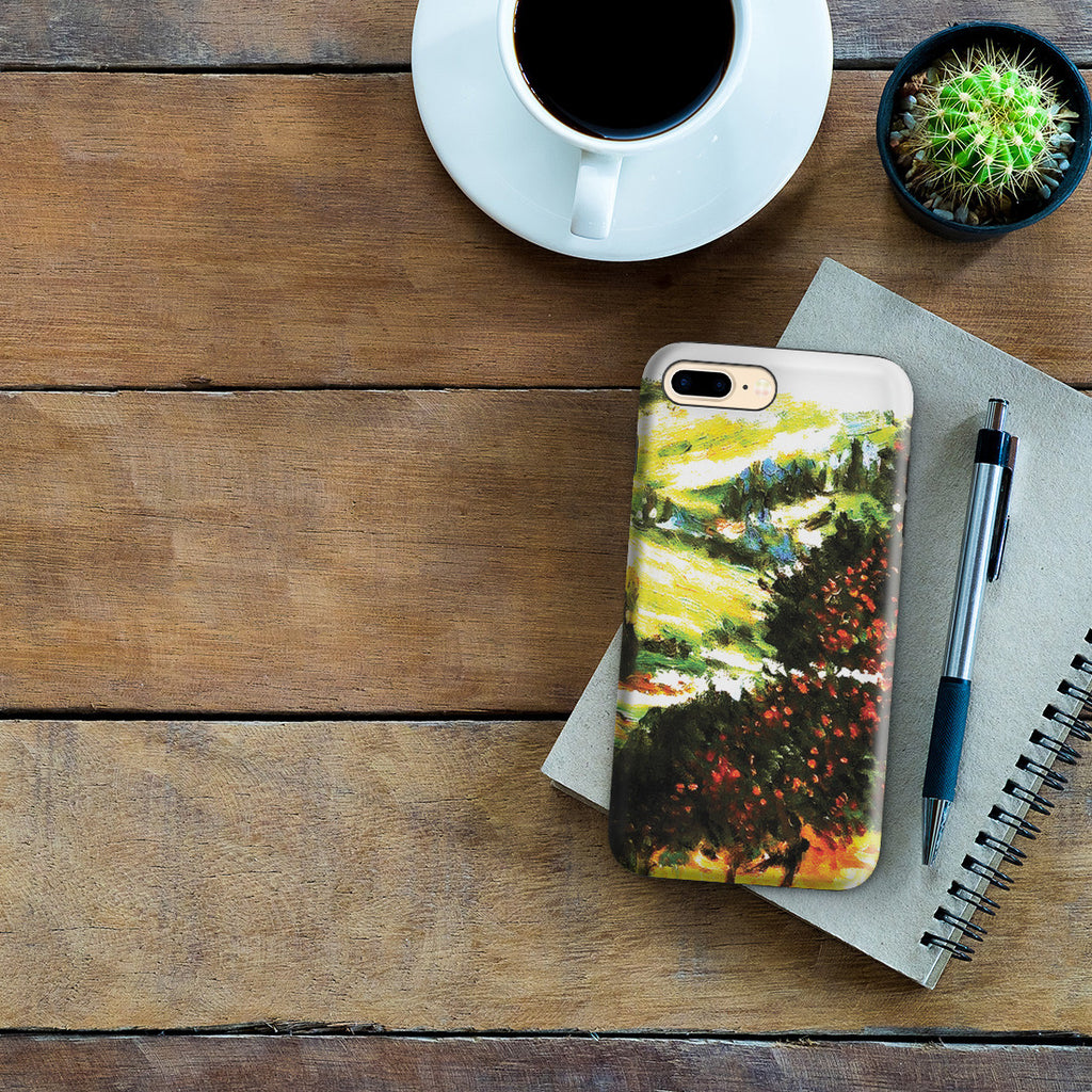iPhone 7 Plus Adventure Case - Apple Trees In Bloom at Vetheuil 1887 by Claude Monet