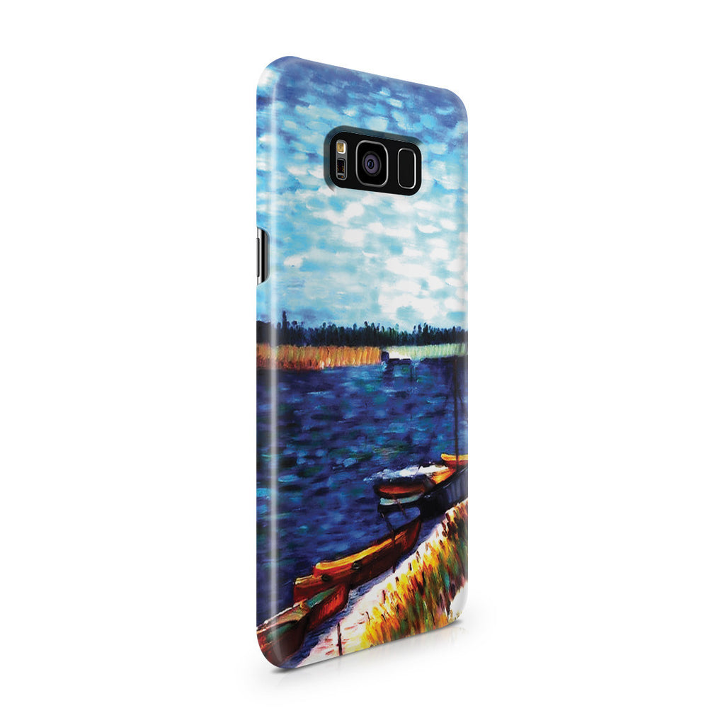 Galaxy S8 Plus Case - Moored Boats by Vincent Van Gogh
