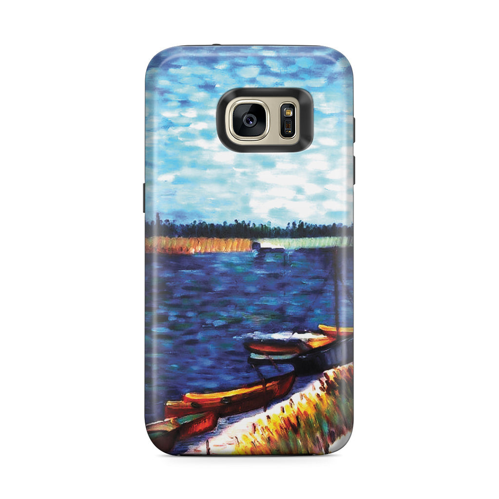 Galaxy S7 Edge Adventure Case - Moored Boats by Vincent Van Gogh