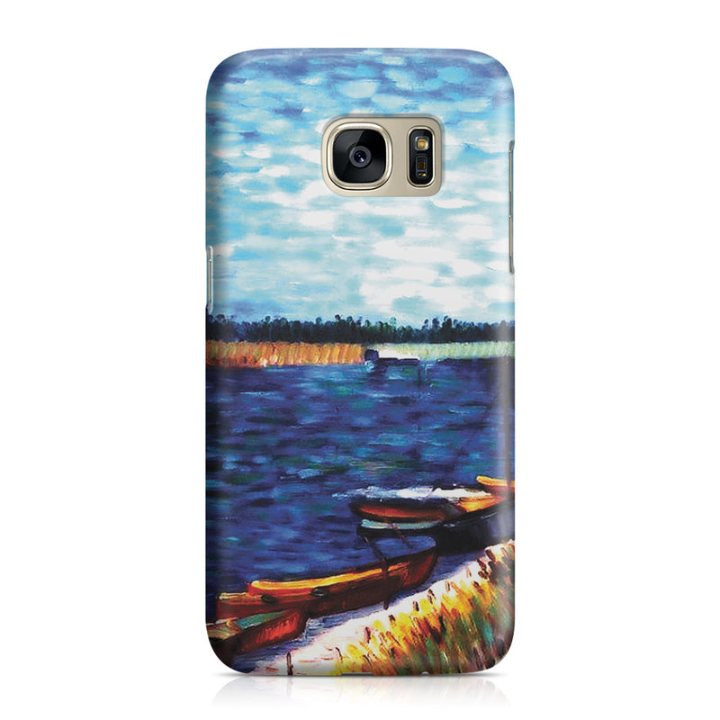 Galaxy S7 Case - Moored Boats by Vincent Van Gogh