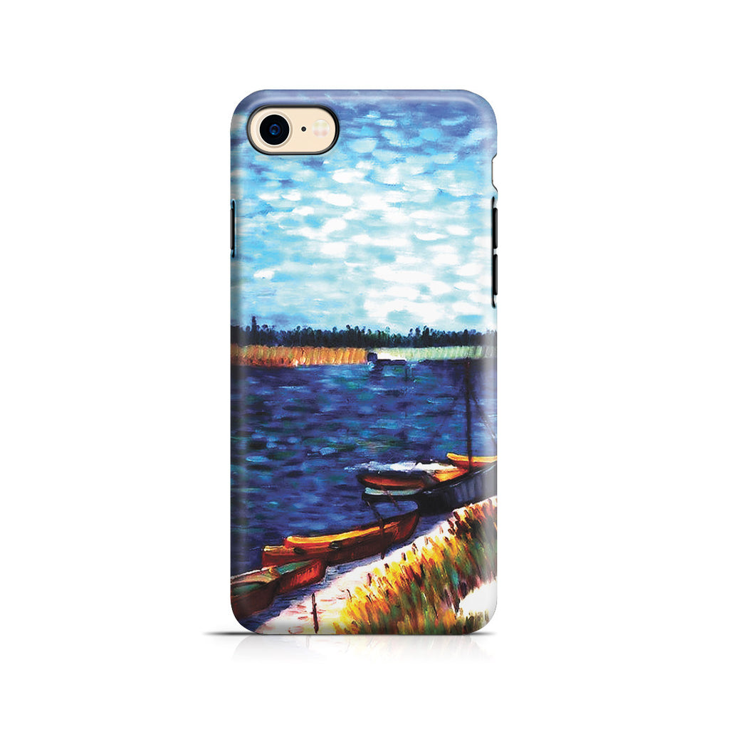 iPhone 7 Adventure Case - Moored Boats by Vincent Van Gogh