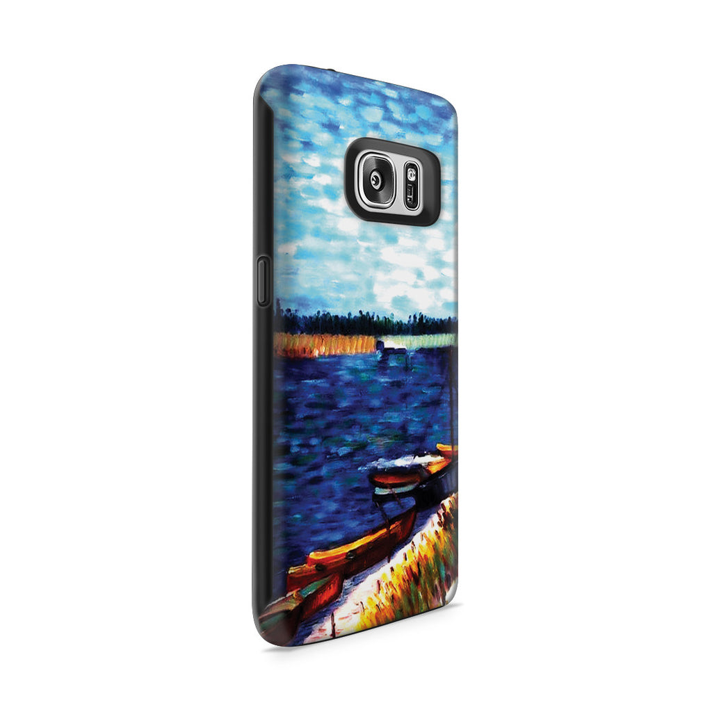 Galaxy S7 Adventure Case - Moored Boats by Vincent Van Gogh