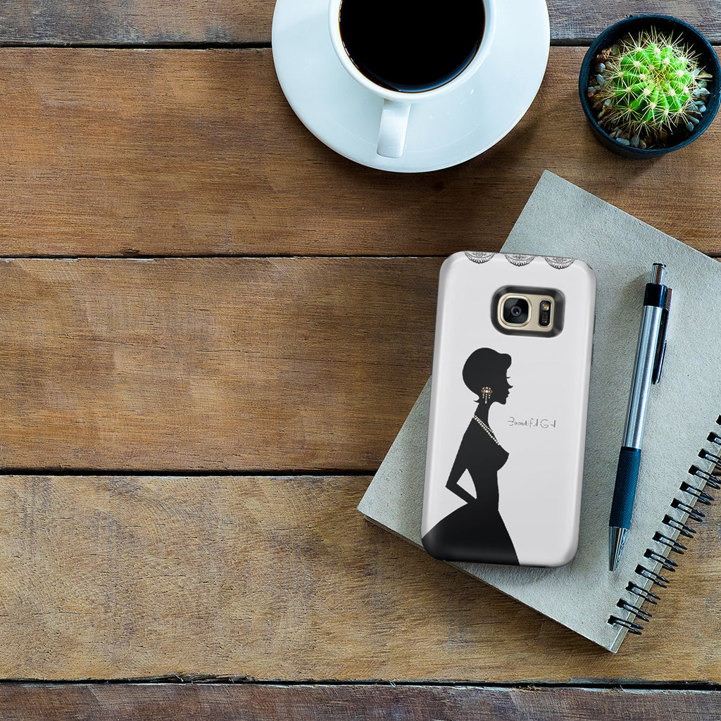 Galaxy S7 Edge Adventure Case - Silver Silhouette