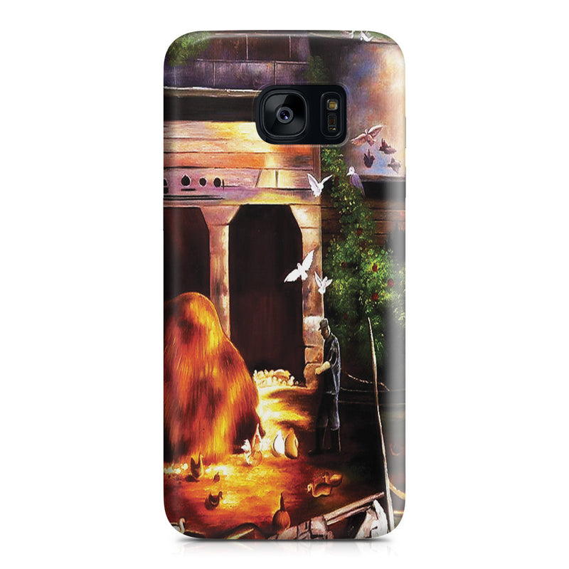 Galaxy S7 Edge Case - Old Farmyard, Toodleums by George Wesley Bellows