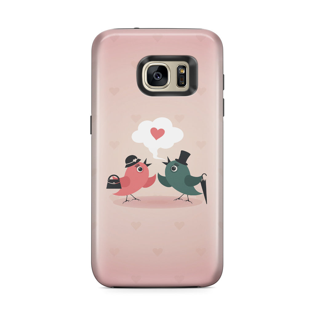 Galaxy S7 Edge Adventure Case - Without Love We are Birds with Broken Wings