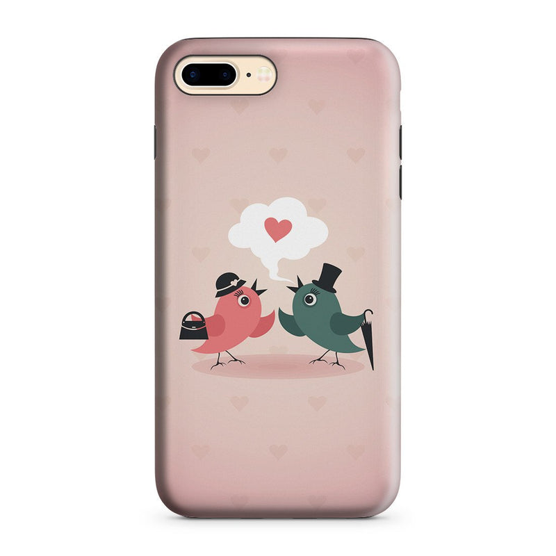 iPhone 8 Plus Adventure Case - Without Love We are Birds with Broken Wings