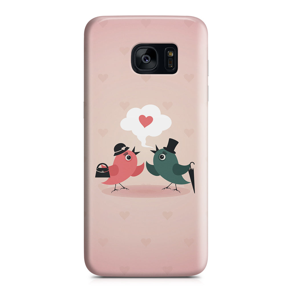 Galaxy S7 Edge Case - Without Love We are Birds with Broken Wings