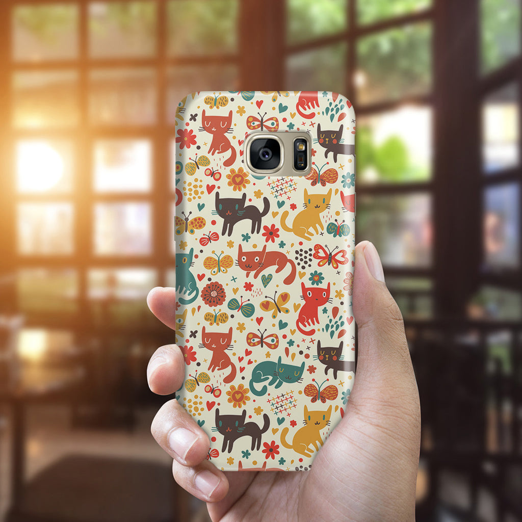 Galaxy S7 Edge Case - Crayon Cat