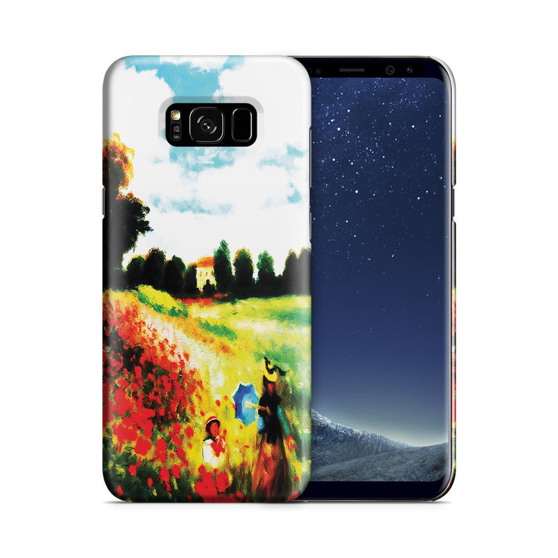 Galaxy S8 Plus Case - Poppy Field In Argenteull Oil Painting by Claude Monet