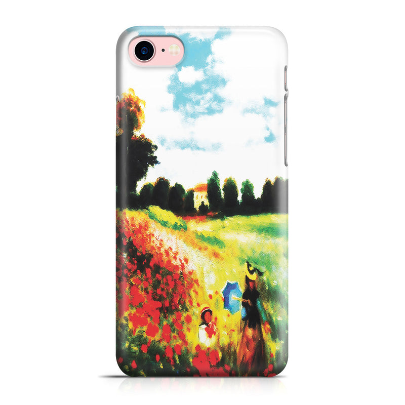 iPhone 7 Case - Poppy Field In Argenteull Oil Painting by Claude Monet