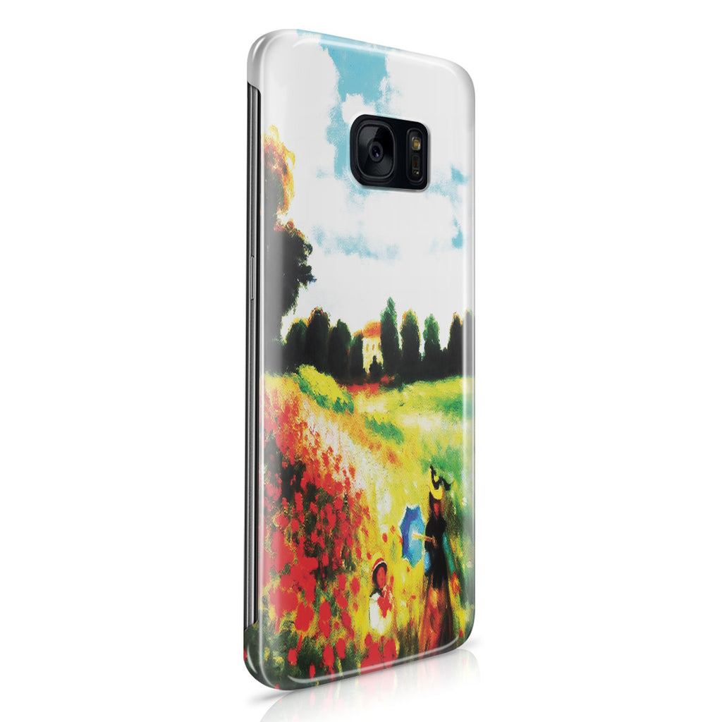 Galaxy S7 Edge Case - Poppy Field In Argenteull Oil Painting by Claude Monet