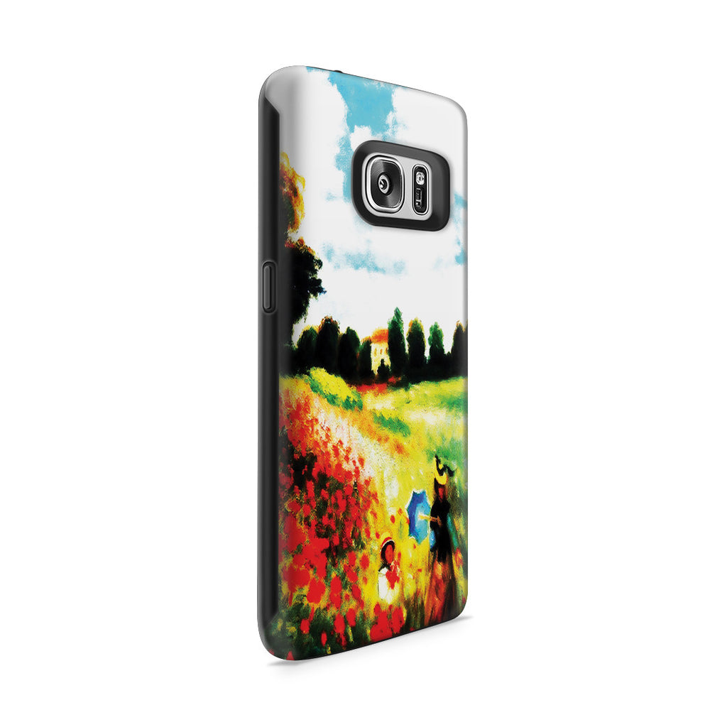 Galaxy S7 Adventure Case - Poppy Field In Argenteull Oil Painting by Claude Monet