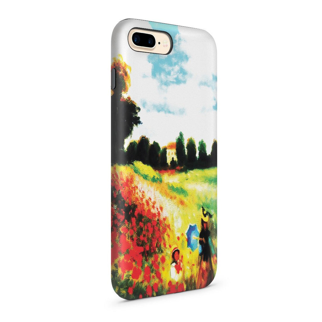 iPhone 8 Plus Adventure Case - Poppy Field In Argenteull Oil Painting by Claude Monet