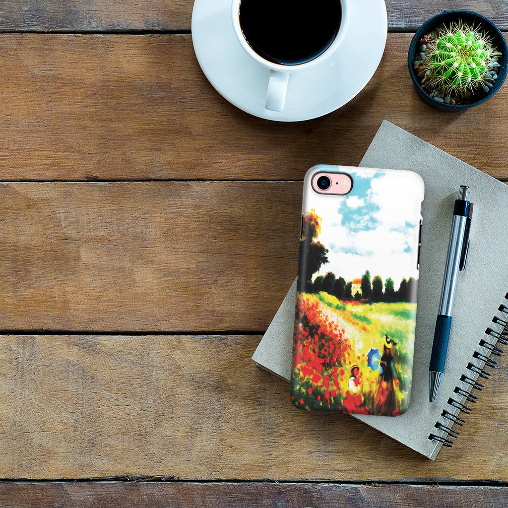 iPhone 7 Adventure Case - Poppy Field In Argenteull Oil Painting by Claude Monet