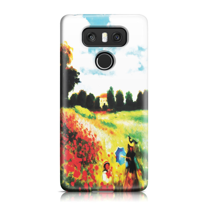 LG G6 Case - Poppy Field In Argenteull Oil Painting by Claude Monet