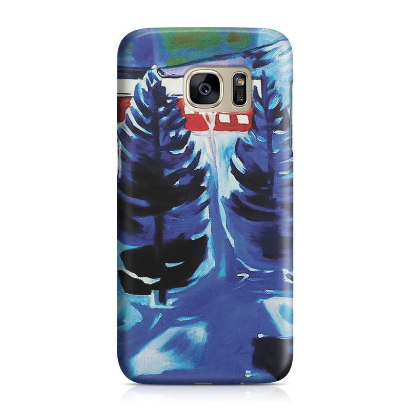 Galaxy S7 Case - Red House and Spruces, 1927 by Edvard Munch