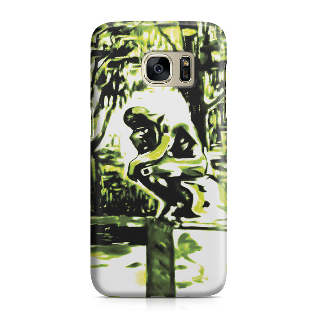 Galaxy S7 Case - Rodin's Le Penseur In Dr. Linde's Garden, 1907 by Edvard Munch