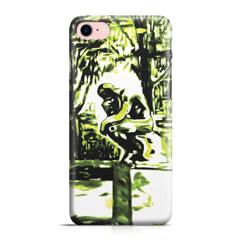 iPhone 7 Case - Rodin's Le Penseur In Dr. Linde's Garden, 1907 by Edvard Munch
