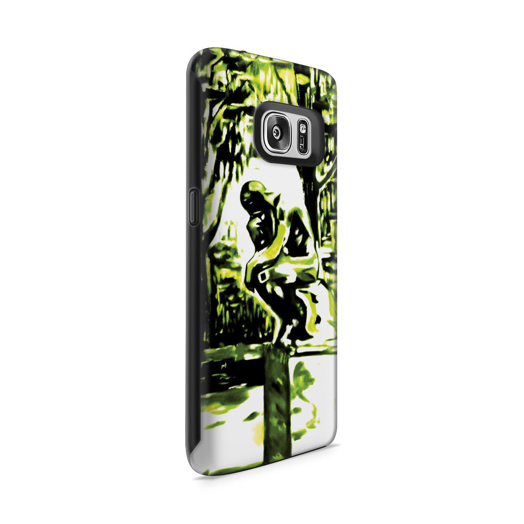 Galaxy S7 Adventure Case - Rodin's Le Penseur In Dr. Linde's Garden, 1907 by Edvard Munch