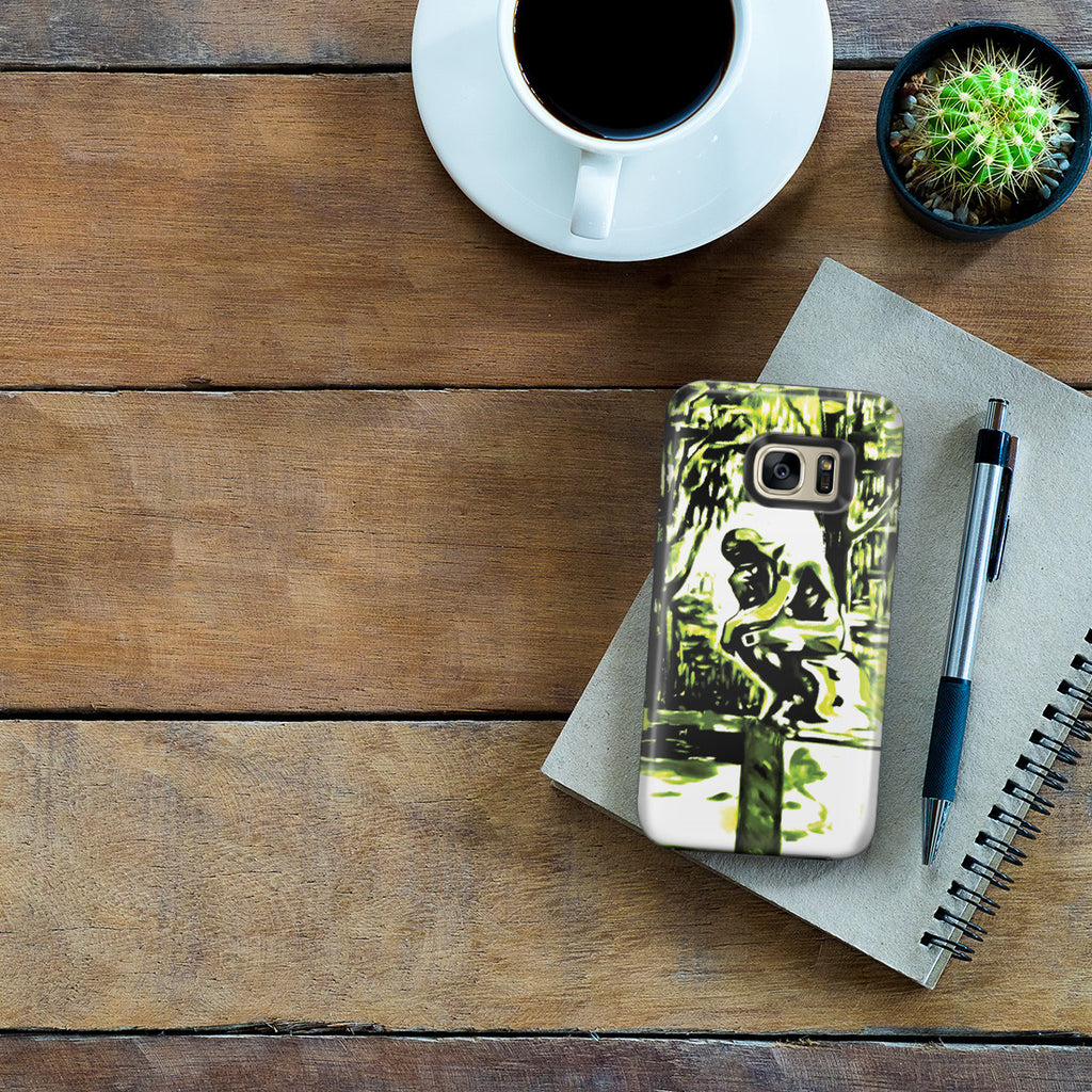 Galaxy S7 Edge Adventure Case - Rodin's Le Penseur In Dr. Linde's Garden, 1907 by Edvard Munch
