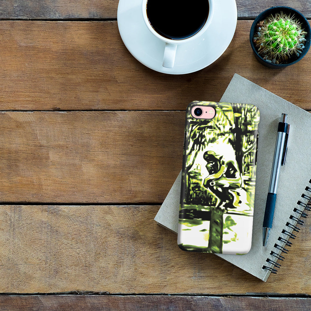 iPhone 6 | 6s Adventure Case - Rodin's Le Penseur In Dr. Linde's Garden, 1907 by Edvard Munch