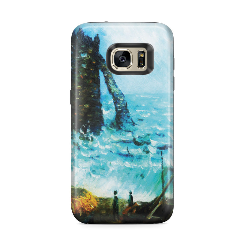 Galaxy S7 Edge Adventure Case - Rough Sea at Etretat by Claude Monet