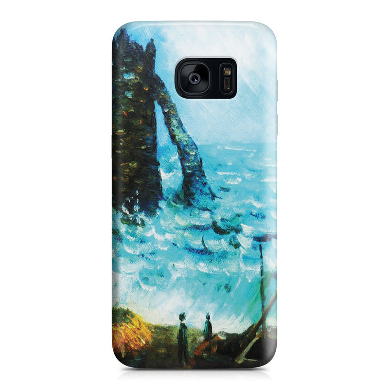 Galaxy S7 Edge Case - Rough Sea at Etretat by Claude Monet