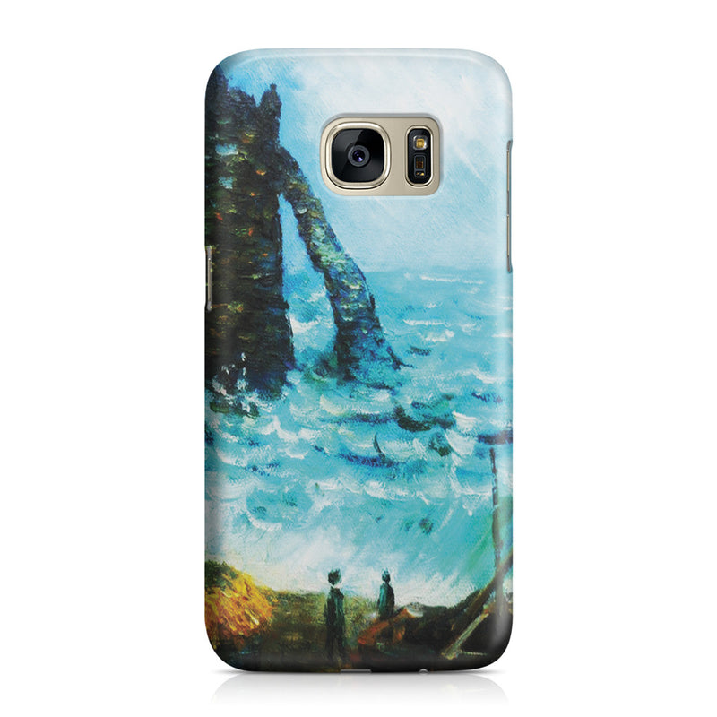 Galaxy S7 Case - Rough Sea at Etretat by Claude Monet