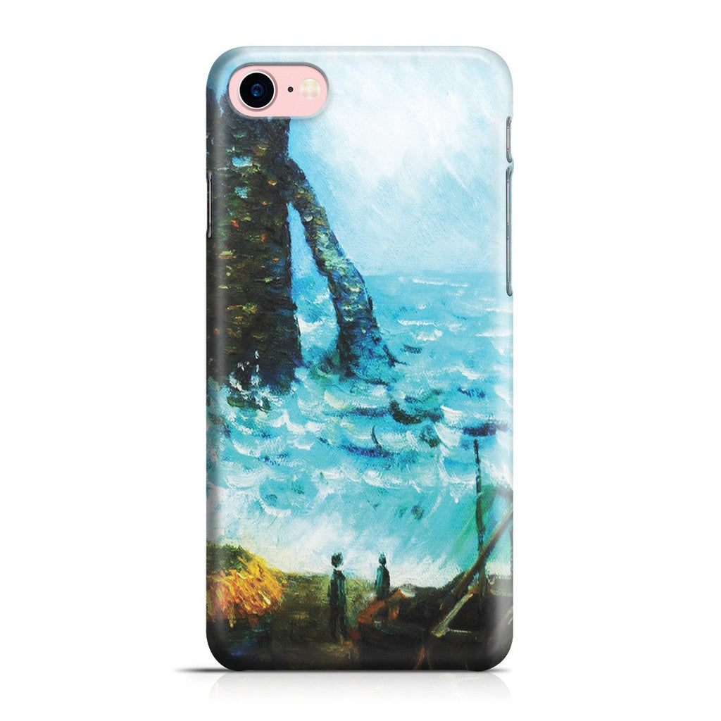 iPhone 8 Case - Rough Sea at Etretat by Claude Monet