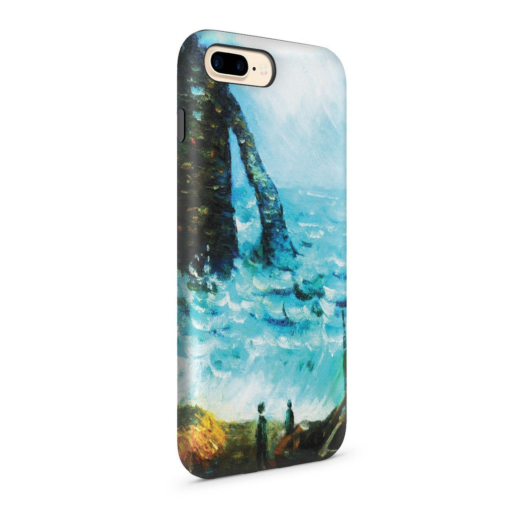 iPhone 8 Plus Adventure Case - Rough Sea at Etretat by Claude Monet