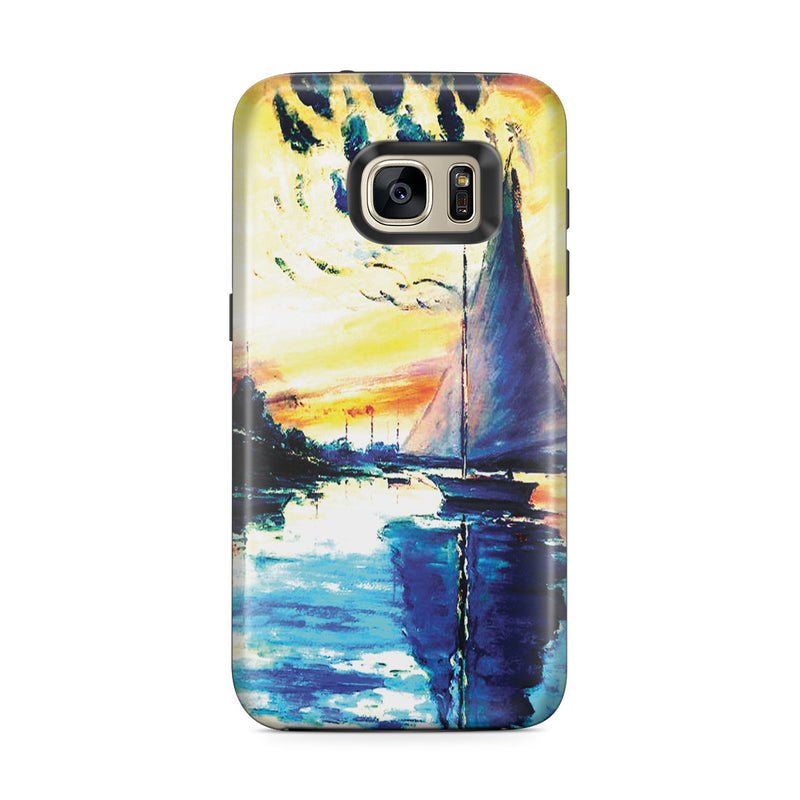 Galaxy S7 Edge Adventure Case - Sailboat at Le Petit-Gennevilliers by Claude Monet