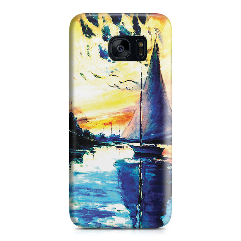 Galaxy S7 Edge Case - Sailboat at Le Petit-Gennevilliers by Claude Monet