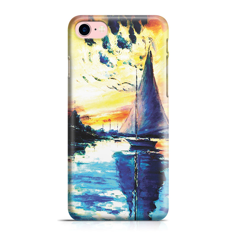 iPhone 7 Case - Sailboat at Le Petit-Gennevilliers by Claude Monet