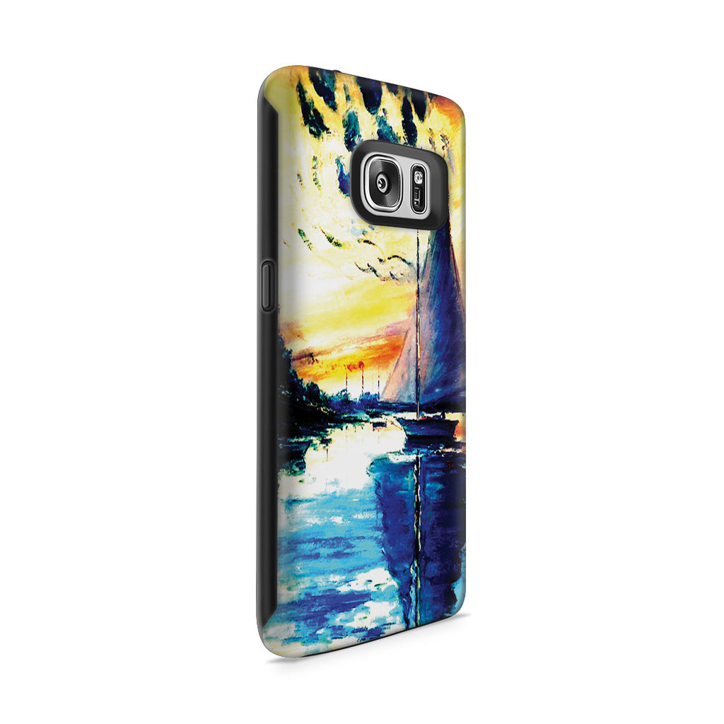 Galaxy S7 Adventure Case - Sailboat at Le Petit-Gennevilliers by Claude Monet