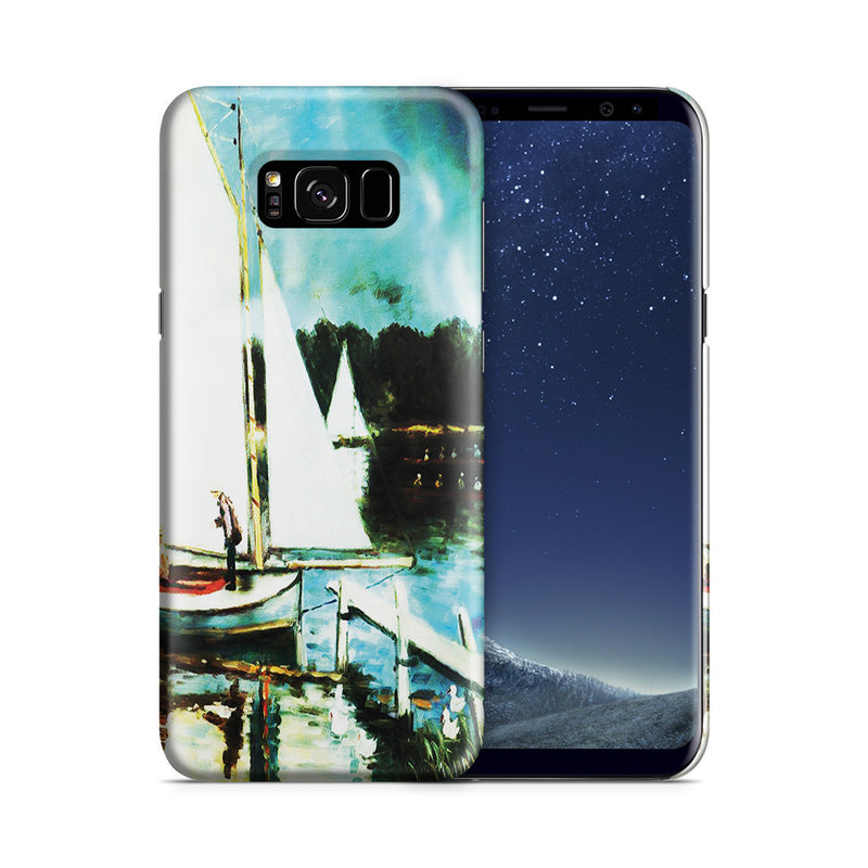 Galaxy S8 Case - Sailing at Argenteuil by Claude Monet
