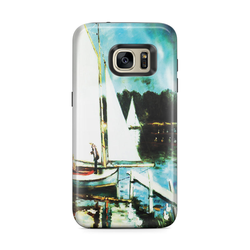 Galaxy S7 Edge Adventure Case - Sailing at Argenteuil by Claude Monet