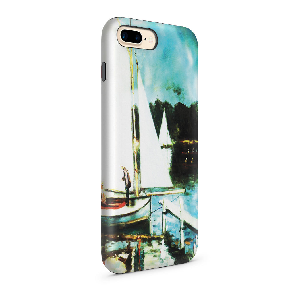 iPhone 7 Plus Adventure Case - Sailing at Argenteuil by Claude Monet
